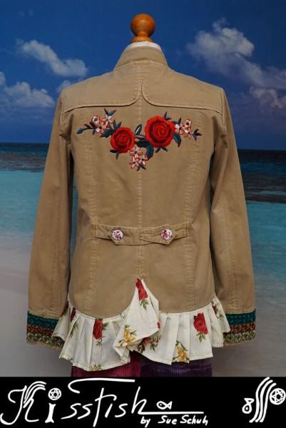 Jeansjacke Sandbeige Rosegarden - Reduziert