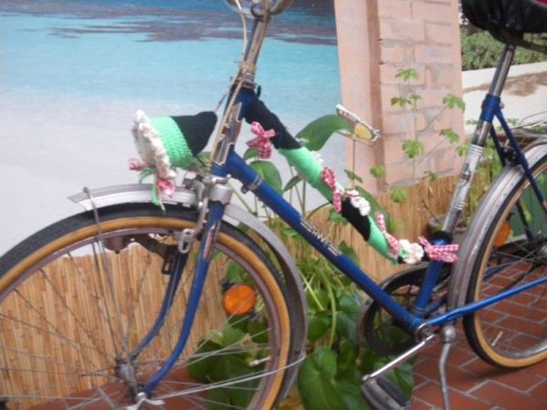 Fahrradset in Strick