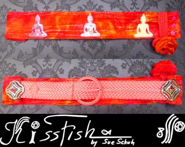 Red Crashed Velvet Buddha