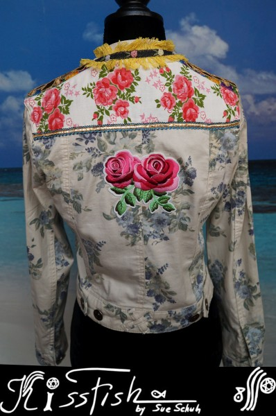 Jeansjacke Bollywood Roses - Reduziert