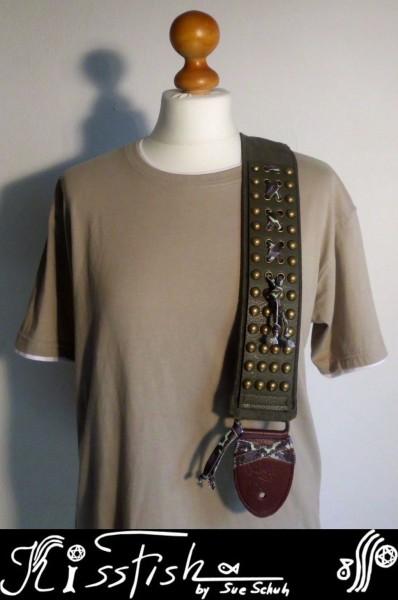 Gitarrengurt Olive Metal
