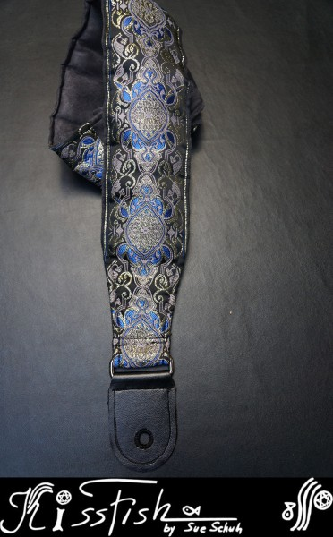 Gitarrengurt Ancient Border Paradies Arctic Blue