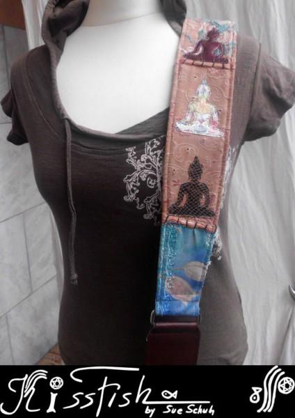 Gitarrengurt 70s Lovely Little Buddhas