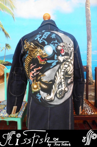 Canvasjacke Tiger and Dragon