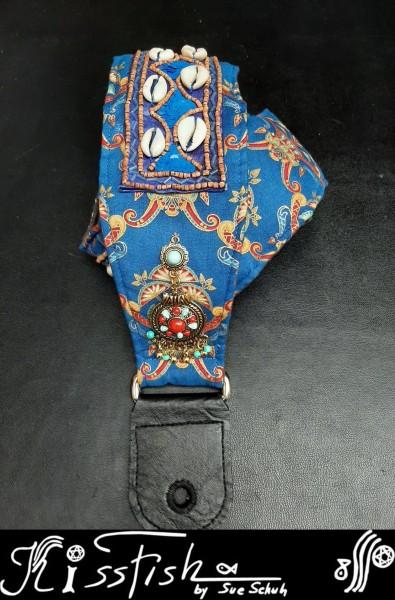 Gitarrengurt Blue Ethno Ornaments