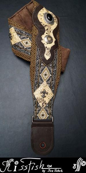 Gitarrengurt Snake on Ornaments