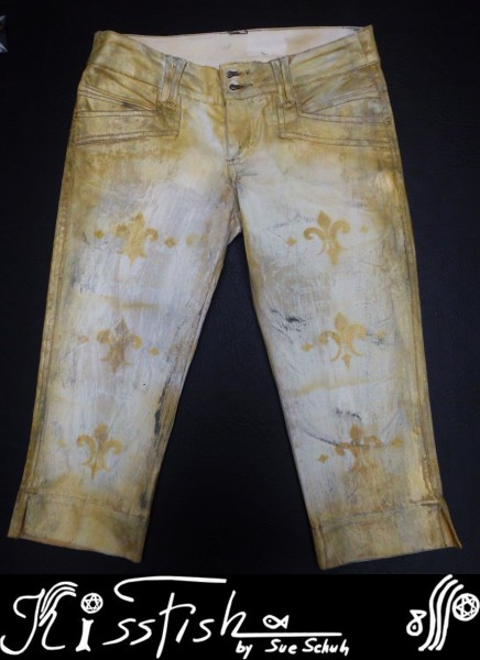 Jeans Shabby Chic on Gold